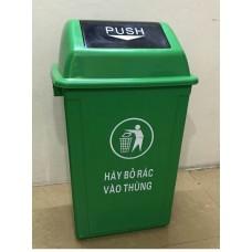 Thùng rác HDPE 60L Bập bênh